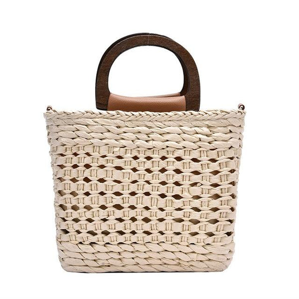 AVA Straw Hand Bag The Store Bags Beige