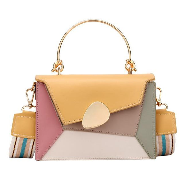 Multi Colored Leather Handbag The Store Bags Yellow