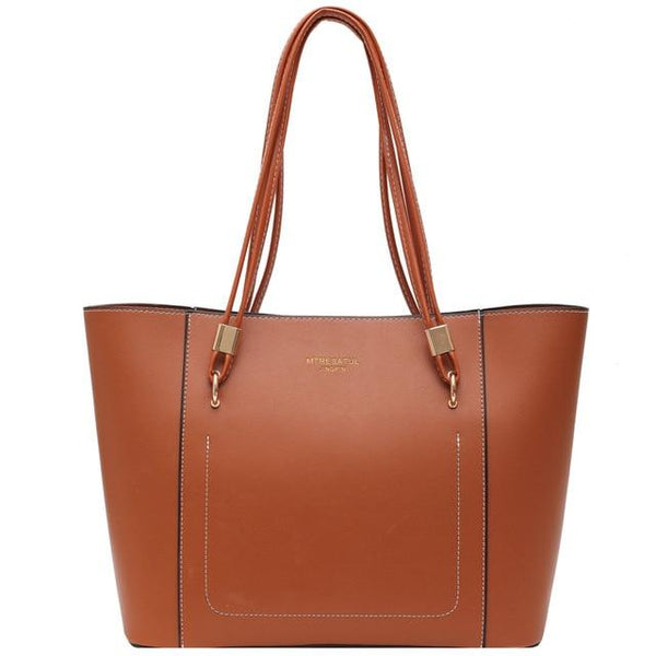 Women's Leather Tote Business Bag The Store Bags Brown