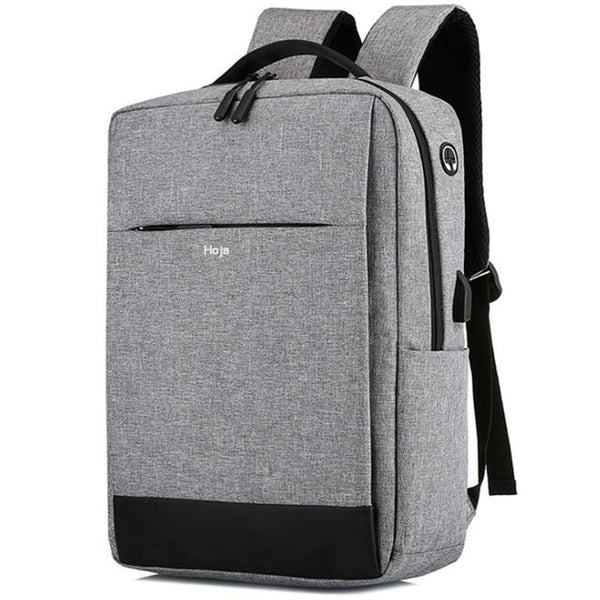 HOJA Laptop USB Backpack The Store Bags Gray