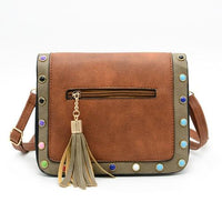 SUSU RIVET Faux Leather Bag The Store Bags brown