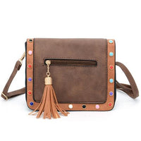 SUSU RIVET Faux Leather Bag The Store Bags coffee