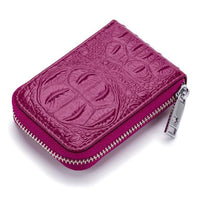 TSB Croc Zipper Women's Wallet - Rose Purple - The Store Bags
