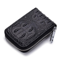 TSB Croc Zipper Women's Wallet - Black - The Store Bags