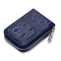 TSB Croc Zipper Women's Wallet - Dark Blue - The Store Bags