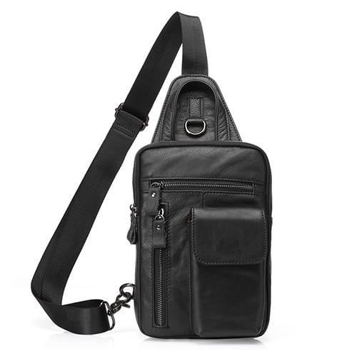 TSB Men's Crossbody Sling Bag - Black - The Store Bags