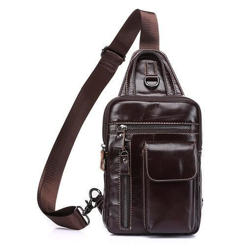 TSB Men's Crossbody Sling Bag - Coffee - The Store Bags