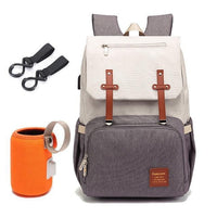 FAMICARE Diaper Bag With USB Port The Store Bags Beige with coffee
