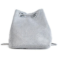 L&M Rhinestone Bucket Bag The Store Bags Silver