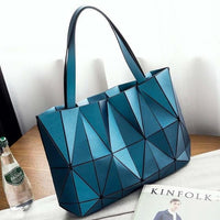 TSB Geometric Women's Shoulder Bag - Blue - The Store Bags
