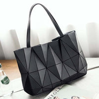 TSB Geometric Women's Shoulder Bag - Black- The Store Bags