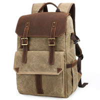 TSB Retro Camera Backpack The Store Bags Khaki