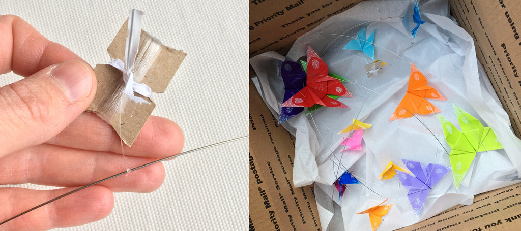 Receiving and Hanging Your Origami Mobile