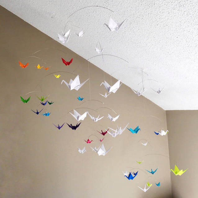 Custom Hanging Origami Mobiles For Home Nursery And Office Decor
