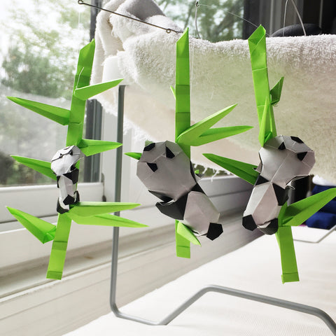 How to Make an Origami Panda Step by Step Instructions | Free ... | 480x480