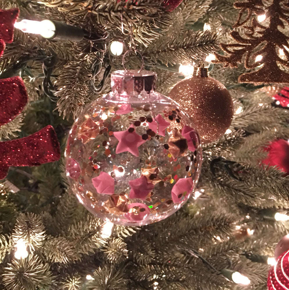 Pink Lucky Star Christmas Ornament