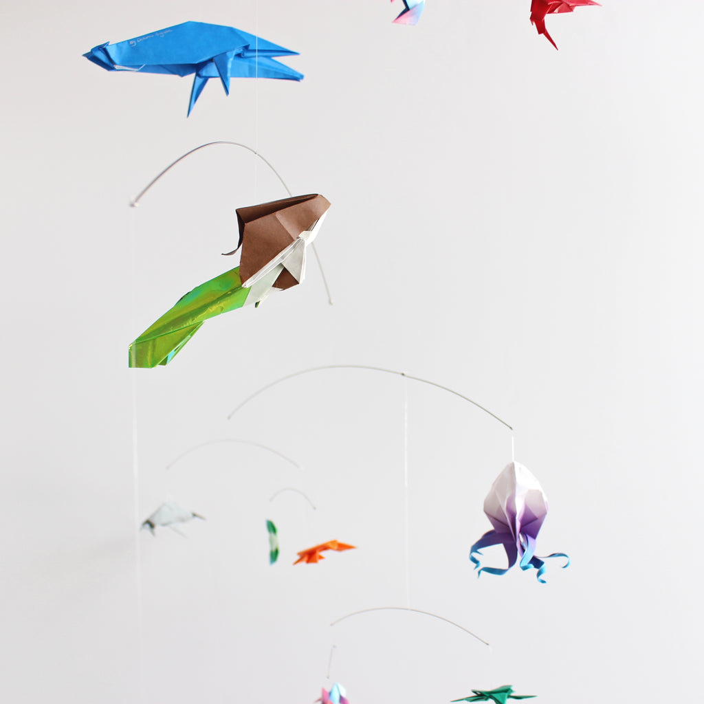 Ocean Themed Origami Paper Mobile The Timeless Crane