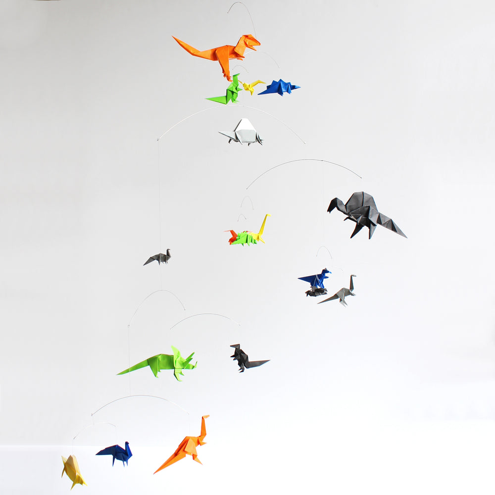Dinosaur Themed Origami Paper Mobile