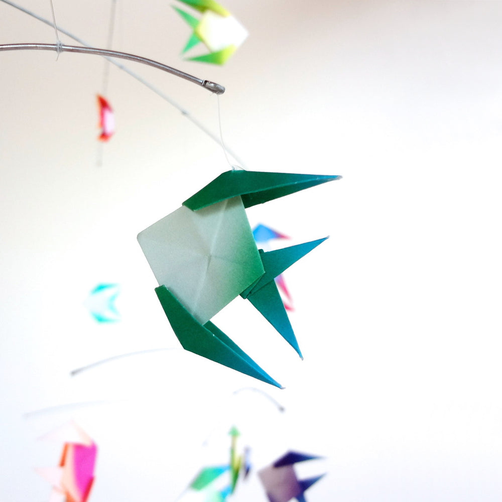 Tropical Paper Fish Mobile