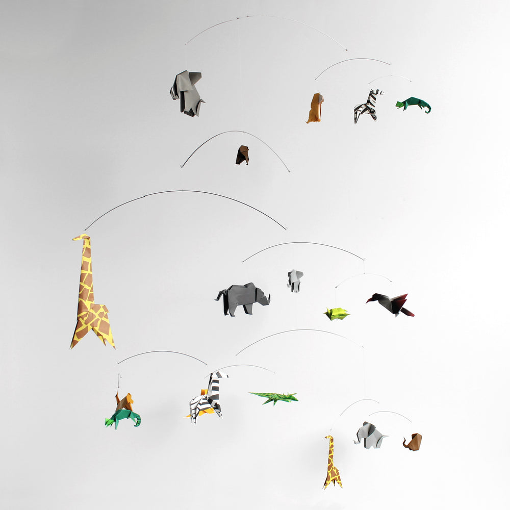 Safari Themed Origami Paper Mobile
