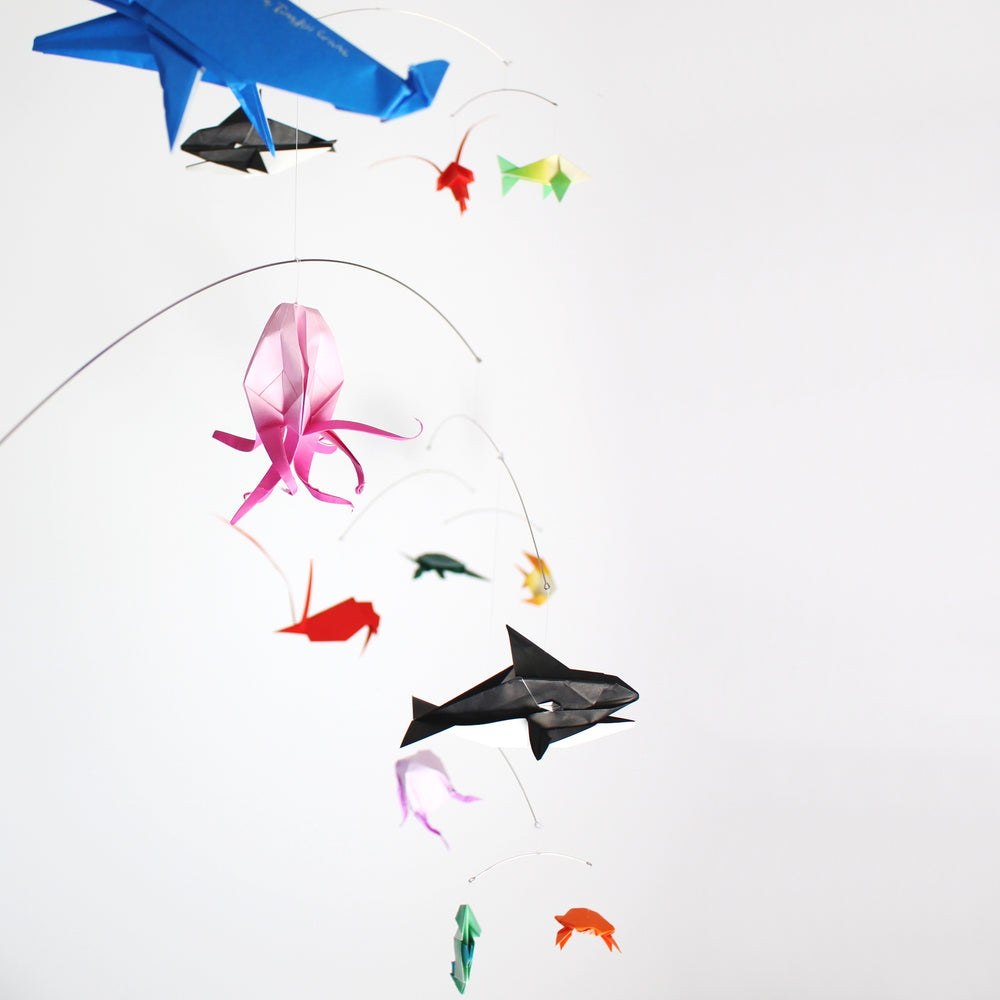 Ocean Themed Origami Paper Mobile