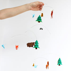 Woodland Themed Origami Paper Mobile