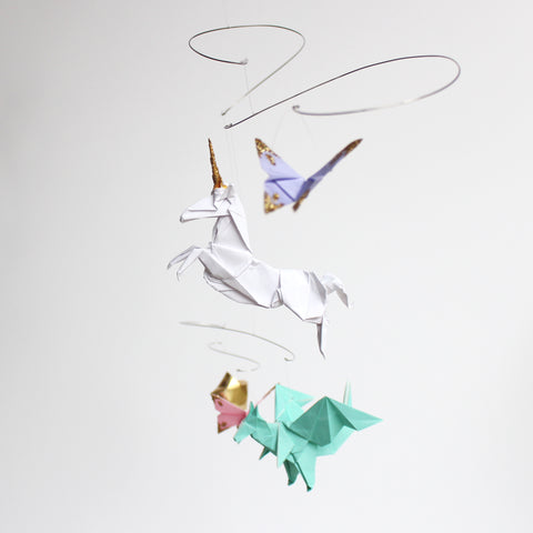 Unicorn Fantasy Themed Origami Paper Mobile