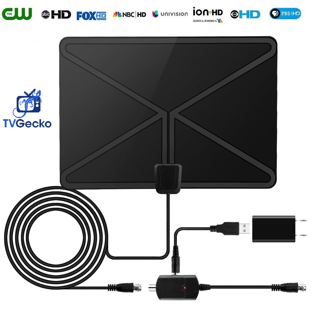TV Gecko Digital Indoor TV Antenna 50 Mile