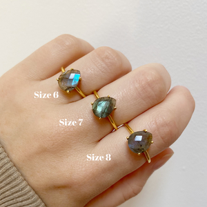 Load image into Gallery viewer, Tia Labradorite Ring - Size 8