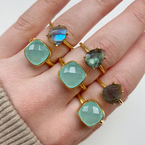 Load image into Gallery viewer, Tia Labradorite Ring - Size 6