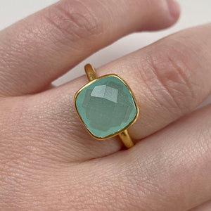 Load image into Gallery viewer, Aqua Chalcedony Ring - Size 6