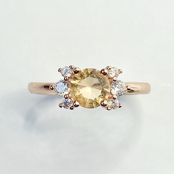 Luna Citrine Ring