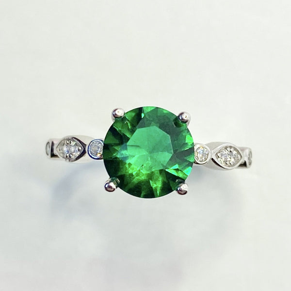 Esme Emerald Solitaire Ring