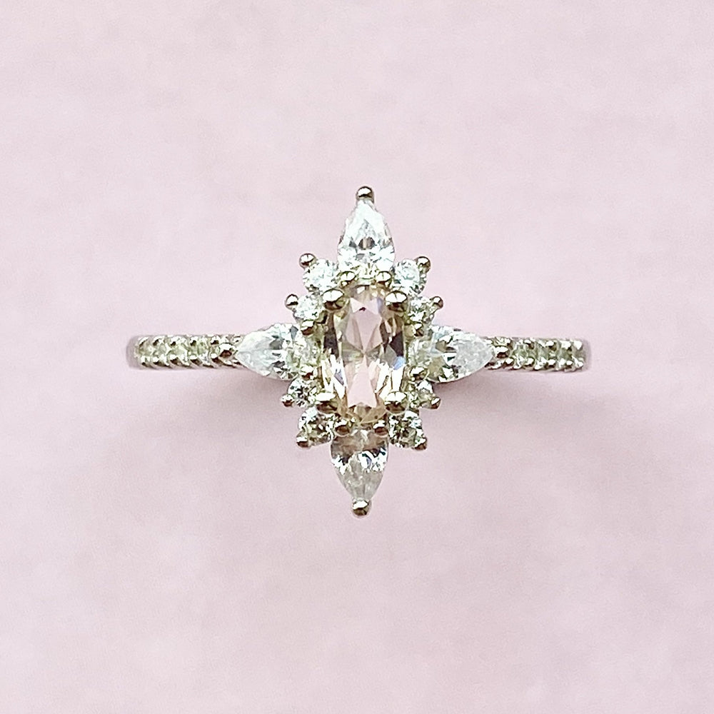 Load image into Gallery viewer, Midwinter Morganite Ring