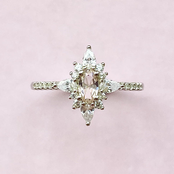 Midwinter Morganite Ring