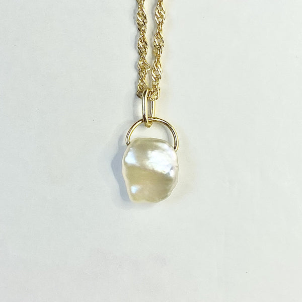 Pearl Twisted Gold Necklace