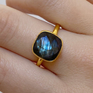 Load image into Gallery viewer, Ella Labradorite Ring - Size 8