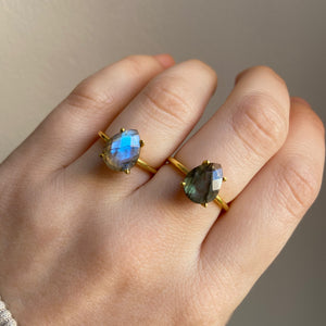 Load image into Gallery viewer, Tia Labradorite Ring - Size 7