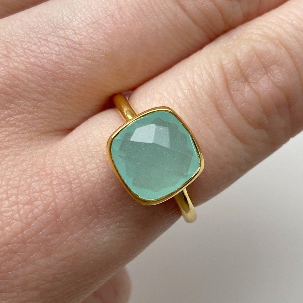 Load image into Gallery viewer, Aqua Chalcedony Ring - Size 8
