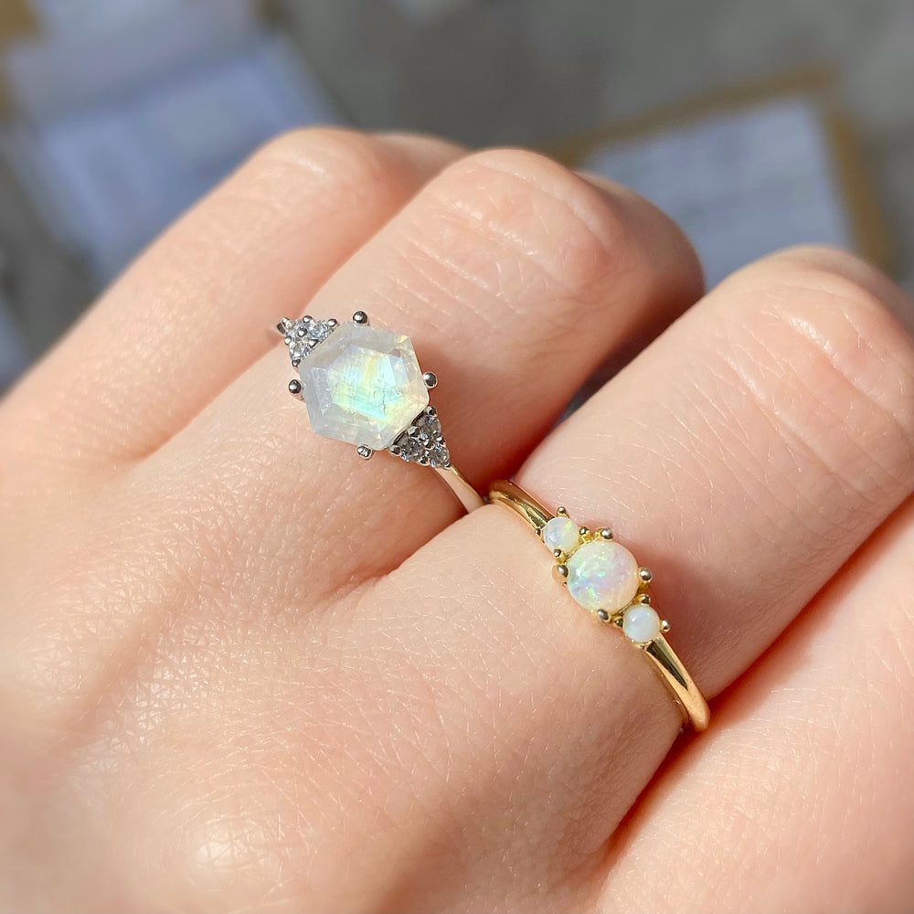 Load image into Gallery viewer, Estelle Tri Opal Ring