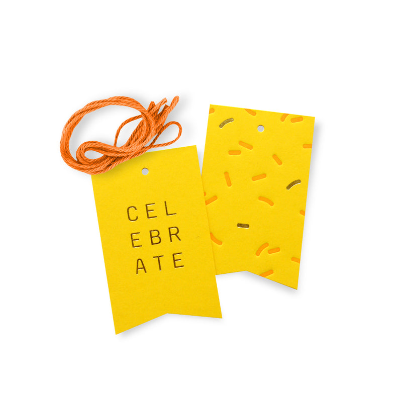 Celebrate Gift Tags – Yellow