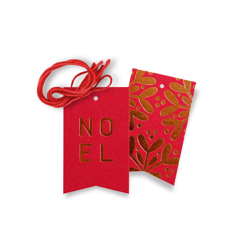 Noel Gift Tags – Red