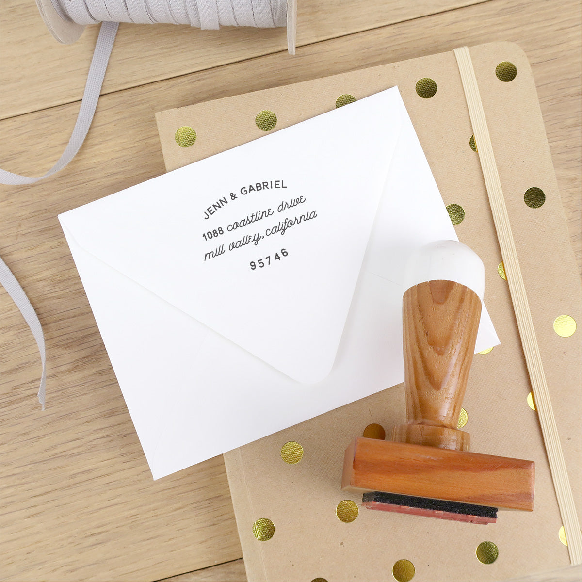 Reclaimed Wood Address Stamp – Archway