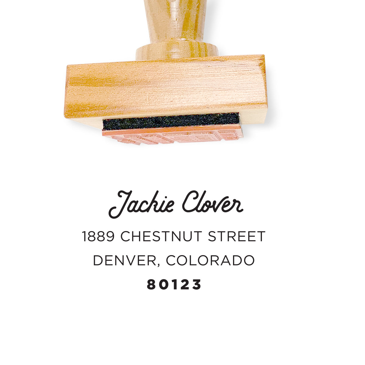 Reclaimed Wood Address Stamp – Simply