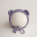 Newborn Knitted Bonnet - Lavender 7163