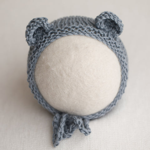 Newborn Knitted Bonnet - Downpour (7151)