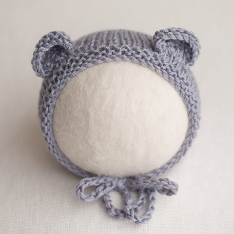 Newborn Knitted Bonnet - Dusk (7159)