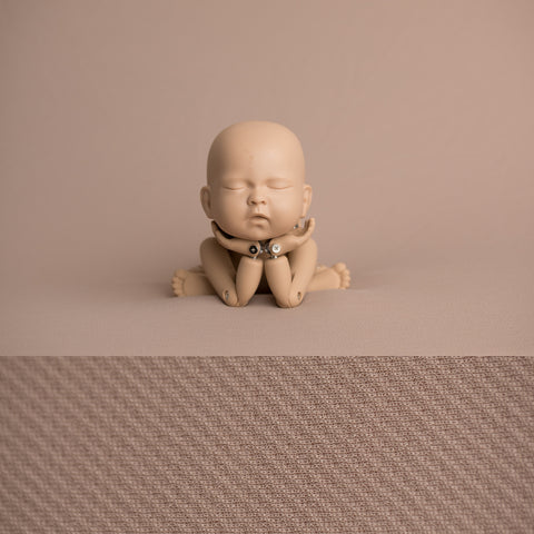Newborn Fabric Backdrop - Eddie - Tan