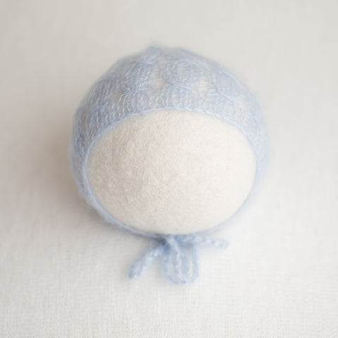 Newborn Kid Silk Bonnet - Light Steel Blue