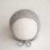 Newborn Knitted Bonnet - Kidsilk Steel